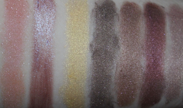 Darling Girl eyeshadows: (from L to R): Hell Hath No Fury // Witch Way Now // Scry Harder // Apocalypse, Not // Just Harried // Painted World // Whitelighter